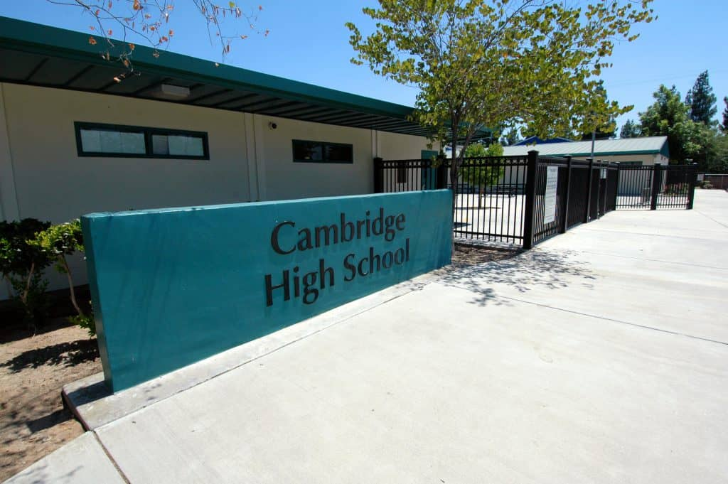 Front of Cambridge high