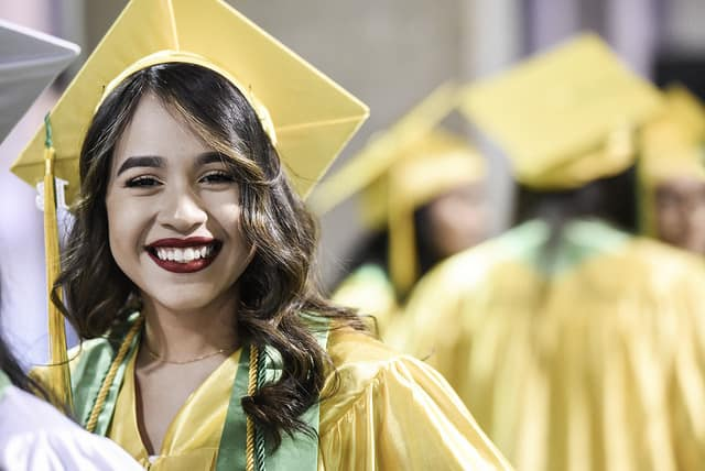 Roosevelt graduate smiling